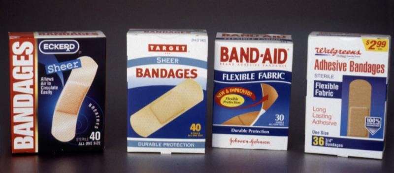 Bandaid vs. private label knockoffs