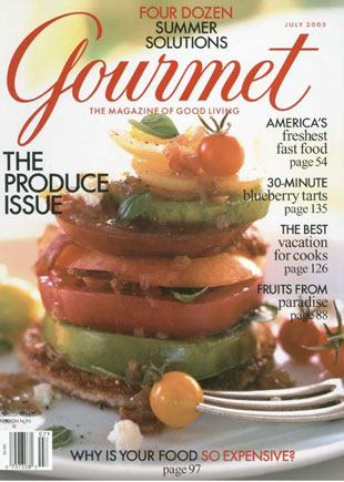 Goldforest Blog Gourmet Magazine Cover